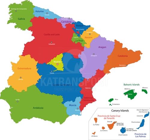 Preprava tovaru z Španielska do Španielska